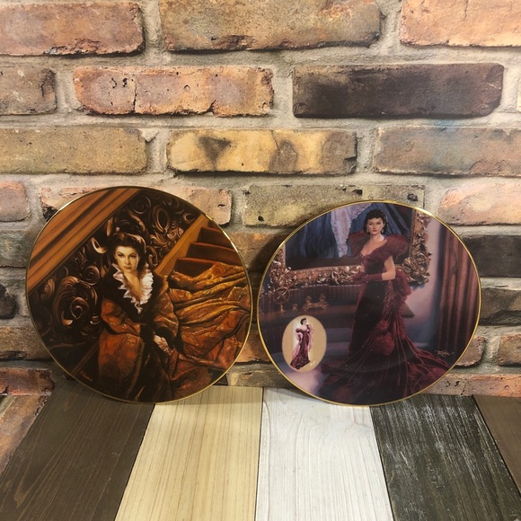 2 Vintage 1991/3 Gone With Wind Collectors Plates